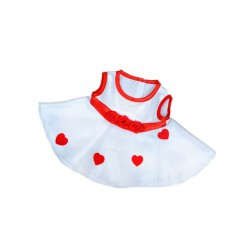 ROBE COEURS POUR OURS 30 CM